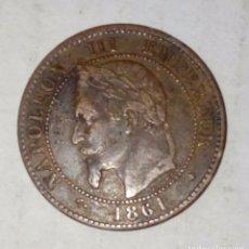 Monedas medievales: MONEDA FRANCESA DETA VENTIMIS 1861. Lote 131616778