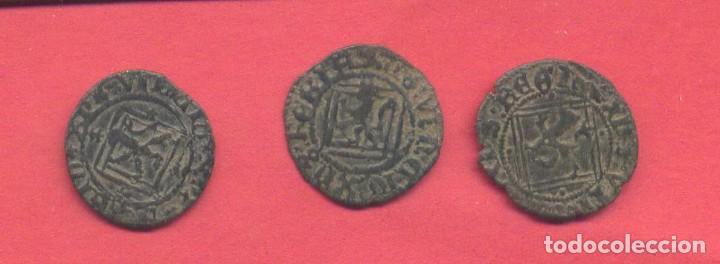 LOTE 3 MONEDAS ANTIGUAS MEDIEVALES A CLASIFICAR, VER FOTOS (Numismática - Hispania Antigua- Medievales - Otros)
