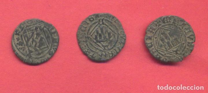 Monedas medievales: lote 3 monedas antiguas medievales a clasificar, ver fotos - Foto 2 - 133389506