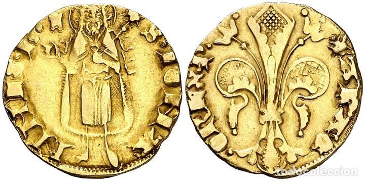 PERE III (1336-1387). VALÈNCIA FLORÍN (CRU.V.S. 392) RARISIMA ORO GOLD CERTIFICADO DE AUTENTICIDAD (Numismática - Hispania Antigua- Medievales - Otros)