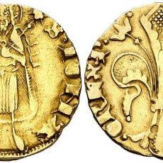 Monedas medievales: PERE III (1336-1387). VALÈNCIA FLORÍN (CRU.V.S. 392) RARISIMA ORO GOLD CERTIFICADO DE AUTENTICIDAD. Lote 136729514