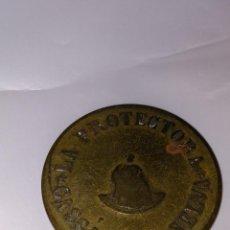 Monedas medievales: RARA FICHA LA PROTECTORA- CASSA DE LA SELVA- 10 CÉNTIMOS. Lote 146271442