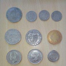 Monedas medievales: 13 RÉPLICAS MONEDAS HISTÓRICAS DE CANARIAS, DEL DUCADO AL EURO, REGALO EL LIBRO. Lote 146626322