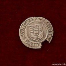 Monedas medievales: DENARIO DE PLATA 1542 HUNGRIA FERDINAND I. Lote 137885190
