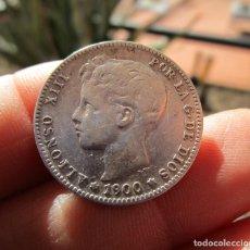 Monedas medievales: ALFONSO XIII . UNA PESETA DE PLATA . AÑO 1900. Lote 151296966
