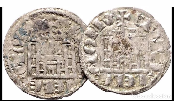 Monedas medievales: 2 Monedas Coronados Sancho IV Cuenca (1286 ,1295 ) Estrella Y Cuenco Muy Raras - Foto 2 - 152372786