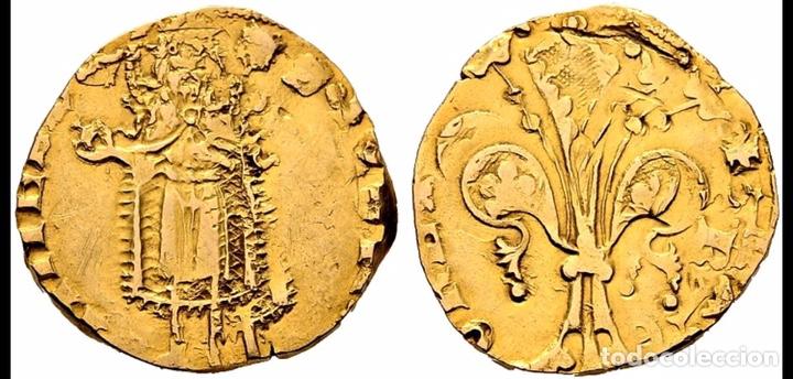 FLORÍN ORO GOLD PEDRO III. PERPIÑÁN 1346 MUY RARA CON CERTIFICADOS EBC+ AUNC (Numismática - Hispania Antigua- Medievales - Otros)