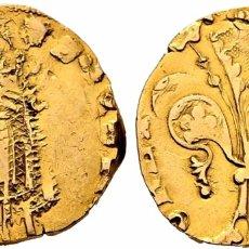 Monedas medievales: FLORÍN ORO GOLD PEDRO III. PERPIÑÁN 1346 MUY RARA CON CERTIFICADOS EBC+ AUNC. Lote 152492477