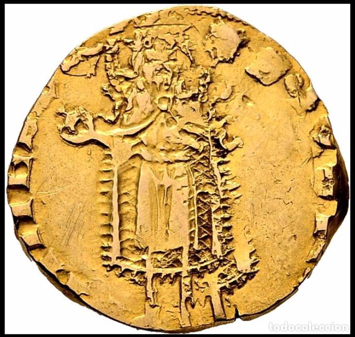 Monedas medievales: Florín Oro Gold Pedro III. Perpiñán 1346 Muy Rara CON CERTIFICADOS EBC+ AUNC - Foto 2 - 152492477