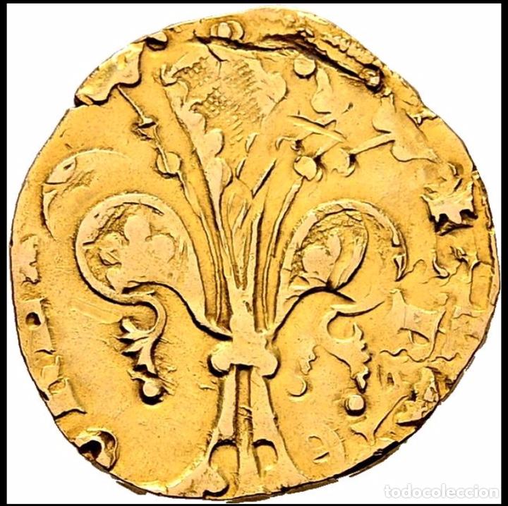 Monedas medievales: Florín Oro Gold Pedro III. Perpiñán 1346 Muy Rara CON CERTIFICADOS EBC+ AUNC - Foto 3 - 152492477