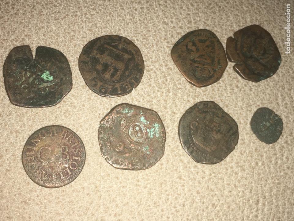 8 MONEDAS MEDIEVALES A IDENTIFICAR (Numismática - Hispania Antigua- Medievales - Otros)