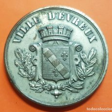 Monedas medievales: 1891 FRANCE MEDAL VILLE D'EVREUX CONSTRUCTION DE L'HOTEL LEGS DEL'HOMME RARA MEDALLA FRANCIA. Lote 153388710