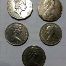 Monedas medievales: MONEDAS LOTE 5,ELYSABET II. Lote 156225966