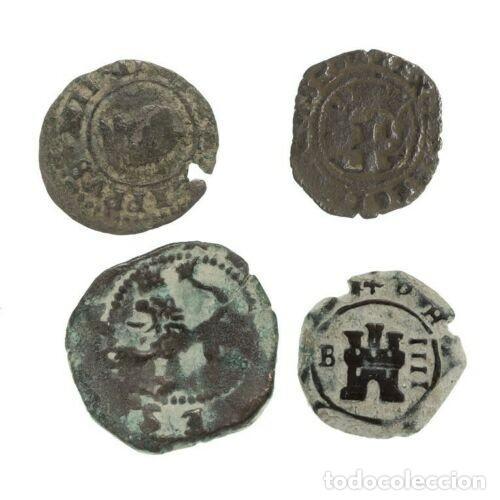 LOTE DE 4 MONEDAS MEDIEVALES. (Numismática - Hispania Antigua- Medievales - Otros)