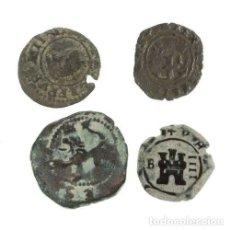 Monedas medievales: LOTE DE 4 MONEDAS MEDIEVALES.. Lote 160057382