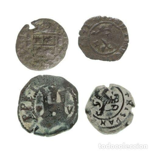Monedas medievales: Lote de 4 Monedas Medievales. - Foto 2 - 160057382