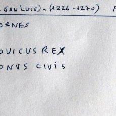 Monedas medievales: FRANCIA - LUIS IX (SAN LUIS) -1226-1270 - DINERO TORNES- VELLON. Lote 177260998