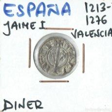 Monedas medievales: MONEDA DINERO JAIME I, VALENCIA . Lote 179182538