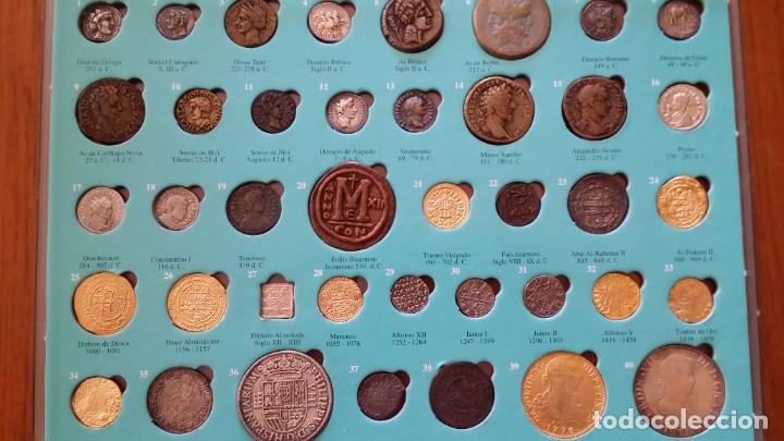 COLECCION 40 MONEDAS DRACMA DENARIO SESTERCIO SEMIS FOLLIS DIRHAM DUCADO REAL MARAVEDIS ESCUDOS AS (Numismática - Hispania Antigua- Medievales - Otros)