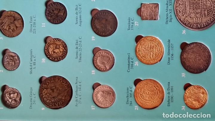 Monedas medievales: COLECCION 40 MONEDAS DRACMA DENARIO SESTERCIO SEMIS FOLLIS DIRHAM DUCADO REAL MARAVEDIS ESCUDOS AS - Foto 4 - 180045022