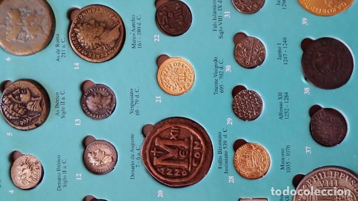 Monedas medievales: COLECCION 40 MONEDAS DRACMA DENARIO SESTERCIO SEMIS FOLLIS DIRHAM DUCADO REAL MARAVEDIS ESCUDOS AS - Foto 5 - 180045022