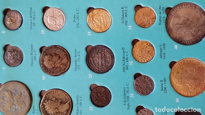 Monedas medievales: COLECCION 40 MONEDAS DRACMA DENARIO SESTERCIO SEMIS FOLLIS DIRHAM DUCADO REAL MARAVEDIS ESCUDOS AS - Foto 6 - 180045022