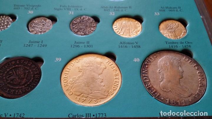 Monedas medievales: COLECCION 40 MONEDAS DRACMA DENARIO SESTERCIO SEMIS FOLLIS DIRHAM DUCADO REAL MARAVEDIS ESCUDOS AS - Foto 8 - 180045022
