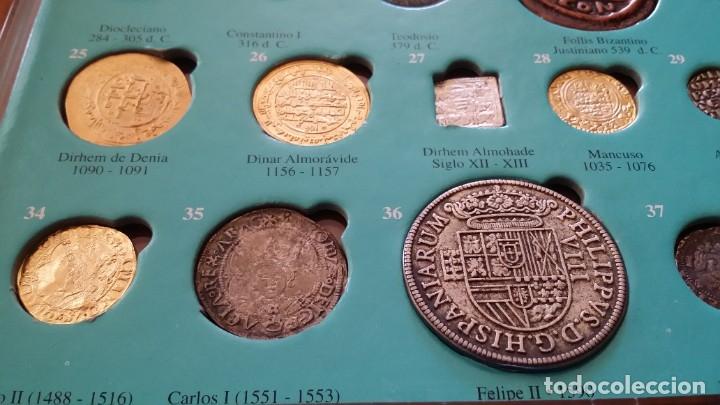 Monedas medievales: COLECCION 40 MONEDAS DRACMA DENARIO SESTERCIO SEMIS FOLLIS DIRHAM DUCADO REAL MARAVEDIS ESCUDOS AS - Foto 9 - 180045022
