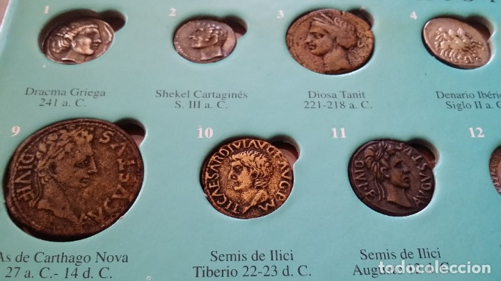 Monedas medievales: COLECCION 40 MONEDAS DRACMA DENARIO SESTERCIO SEMIS FOLLIS DIRHAM DUCADO REAL MARAVEDIS ESCUDOS AS - Foto 10 - 180045022