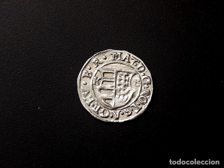 MATIAS II --HUNGARY SILVER DENAR. AÑO 1617 DENARIO MEDIEVAL DE HUNGRIA (Numismática - Hispania Antigua- Medievales - Otros)