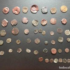 Monedas medievales: LOTE DE 60 MONEDAS A EXPERTIZAR, VARIAS ÉPOCAS. Lote 184690225