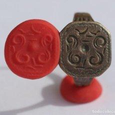 Monedas medievales: PRECIOSO Y ESCASO ANILLO DE SELLO HERALDICO. Lote 184861667