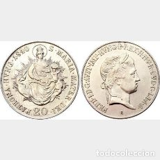 Monedas medievales: HUNGRIA 20 KRAJCZAR 1840 B- KREMNITZ..FERNANDO I SILVER. Lote 185884697