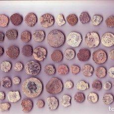 Monedas medievales: LOTE DE 80 MONEDAS MEDIEVALES, ROMANAS E HISPANOARABES. Lote 190855787