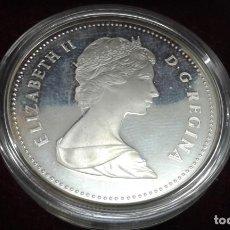 Monedas medievales: MONEDA PLATA DE CANADA NUEVA ELIZABETH II 1983 UN DOLAR. Lote 199057682