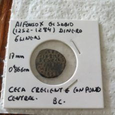 Monedas medievales: ALFONSO X EL SABIO DINERO 6 LINEAS. Lote 203789147