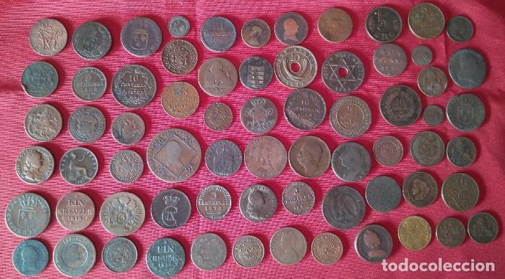 LOTE DE ANTIGUAS MONEDAS MEDIEVALES, ETC... - LOTE DE BRONCES ANTIGUOS (Numismática - Hispania Antigua- Medievales - Otros)