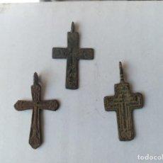 Monedas medievales: LOTE DE 3 ANTIGUAS CRUCES DEL SIGLO 17-18.. Lote 204458522