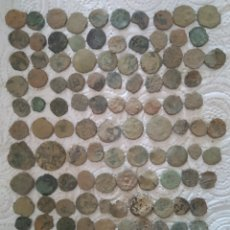 Moedas medievais: LOTE 120 MONEDAS ESPAÑOLAS ANTIGUAS. Lote 215134565