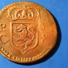 Monedas medievales: ESPAÑA - 8 REALES 1741 FELIPE V.SANTIAGO DE CUBA.FALSA DE ÉPOCA. RARISIMA. - COBRE. Lote 220098298