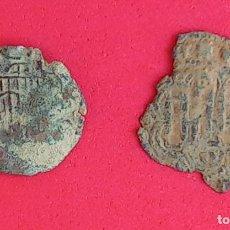 Monedas medievales: MONEDAS MEDIEVALES CASTILLA Y LEON, DAÑADAS.. Lote 221740267