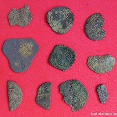 Monedas medievales: FRAGMENTOS DE MONEDAS MEDIEVALES Y AUSTRIAS. Lote 221740277
