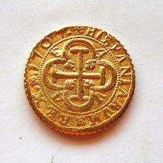 Moedas medievais: FELIPE V . 4 ESCUDOS 1707 , VALENCIA . RÉPLICA. Lote 222676887