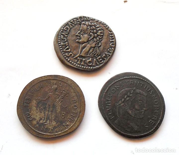 LOTE X 3 . MONEDAS GRIEGAS . RÉPLICAS (Numismática - Hispania Antigua- Medievales - Otros)