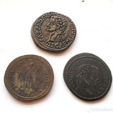 Monedas medievales: LOTE X 3 . MONEDAS GRIEGAS . RÉPLICAS. Lote 222679048