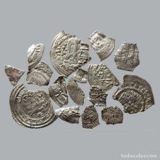 Moedas medievais: CONJUNTO DE FRAGMENTOS DE DIRHAM, PERIODO OMEYA, (10 G). B43-L. Lote 232420800