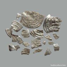 Monedas medievales: CONJUNTO DE FRAGMENTOS DE DIRHAM, PERIODO OMEYA, (6,60 G). B12-L. Lote 245587590