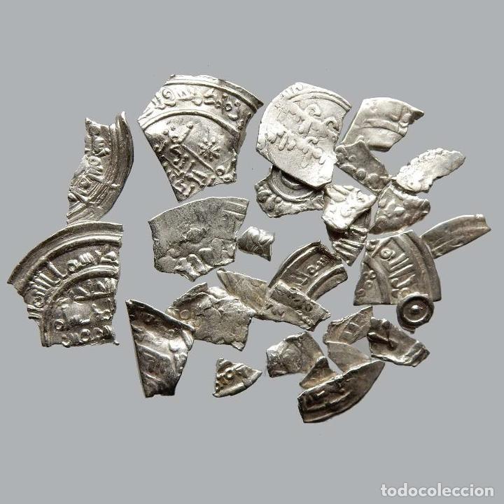 CONJUNTO DE FRAGMENTOS DE DIRHAM, PERIODO OMEYA, (6,60 G). B29-L (Numismática - Hispania Antigua- Medievales - Otros)