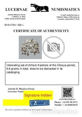 Monedas medievales: Conjunto de fragmentos de Dirham, periodo Omeya, (6,60 g). B30-L - Foto 2 - 245602905