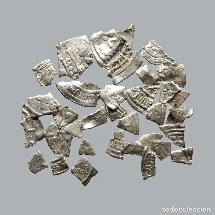 CONJUNTO DE FRAGMENTOS DE DIRHAM, PERIODO OMEYA, (6,60 G). B30-L (Numismática - Hispania Antigua- Medievales - Otros)